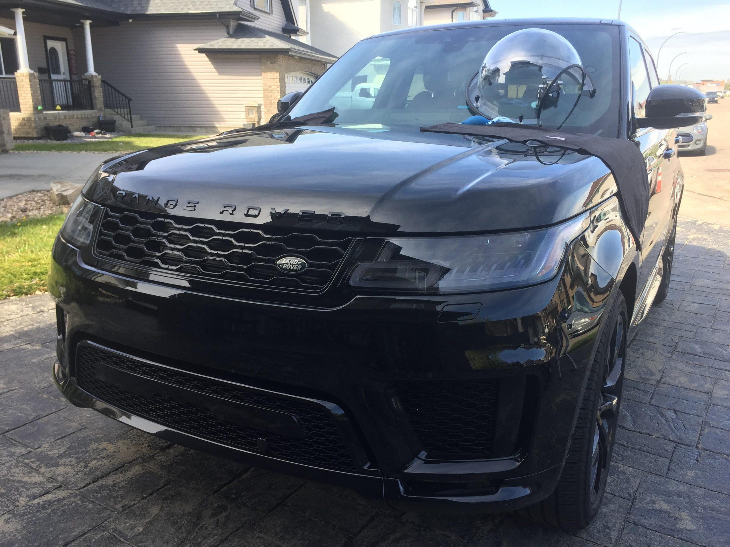 windshield repair black range rover